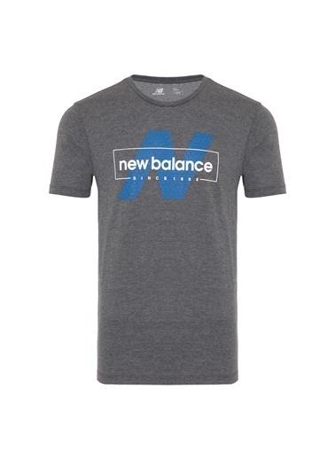 New Balance Erkek New Balance Logo Tee Tişört MTT911-CHCGri Gri